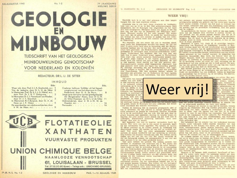 Geologie en Mijnbouw zevende jaargang juli-augustus 1945