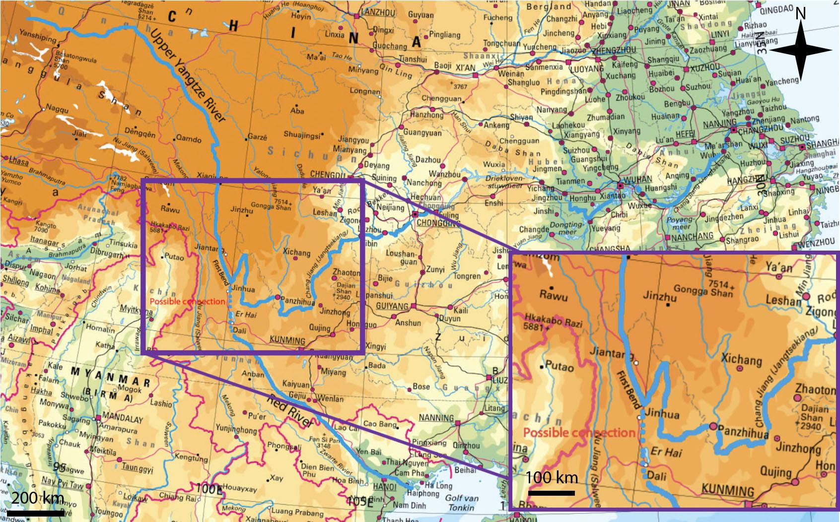 Geo.brief Uitgelicht: De knik in de Yangtze rivier